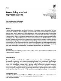 Market representations
